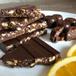 Апельсиновый кето-шоколад