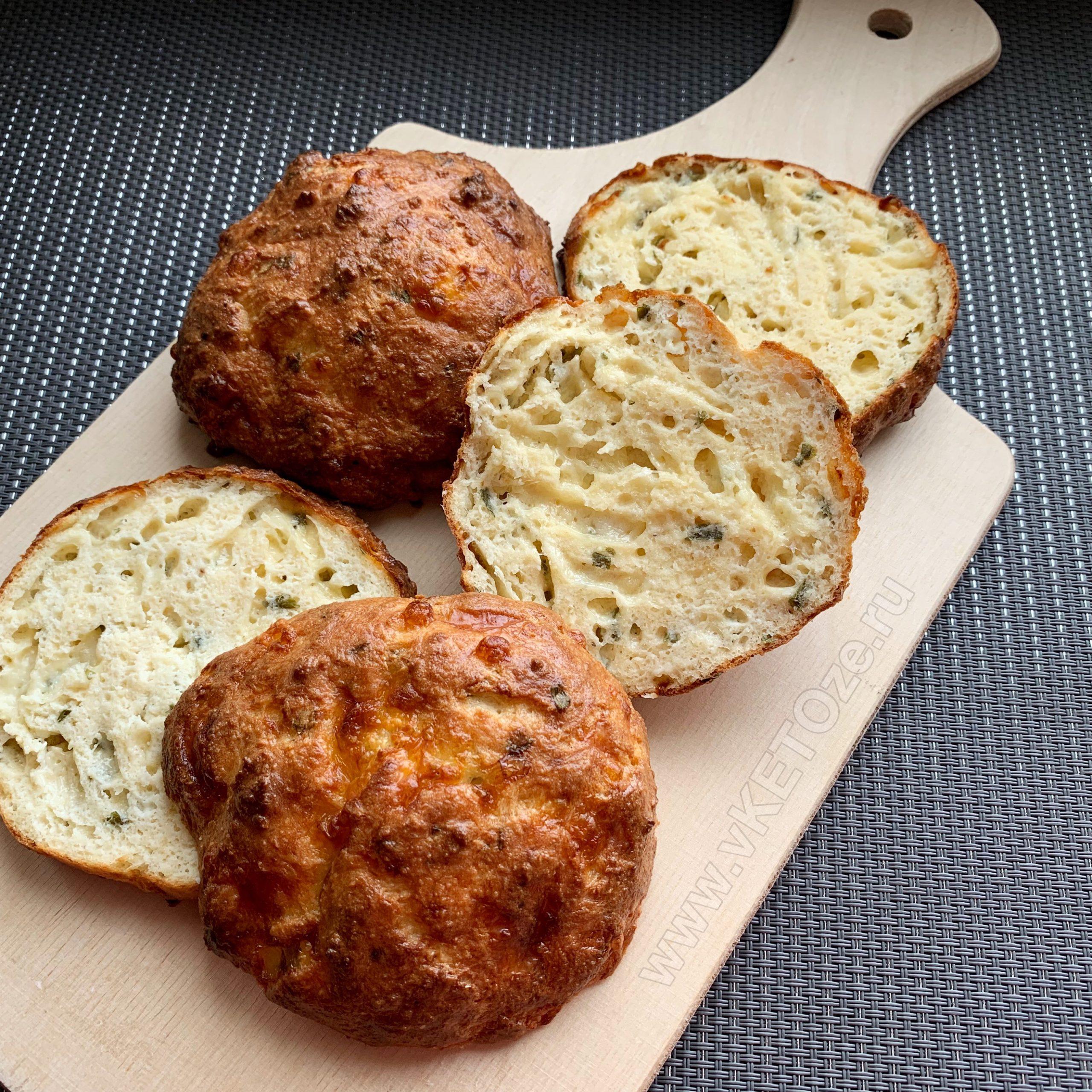 Кето-хлеб с творогом